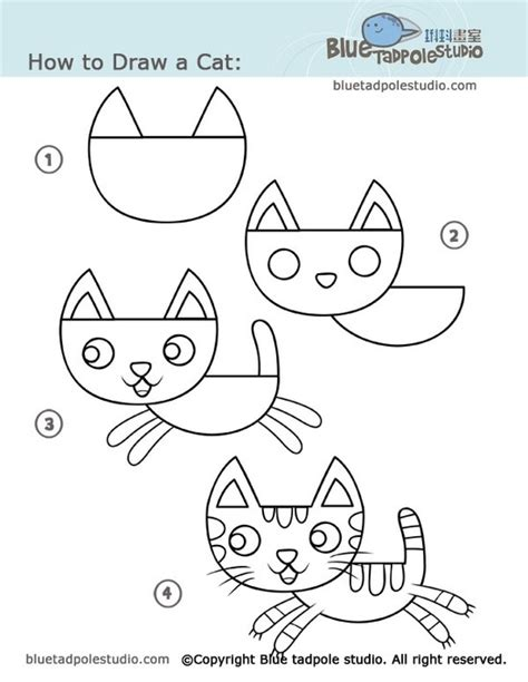 how to draw with doodle cat 1 17 best images about simple drawing on