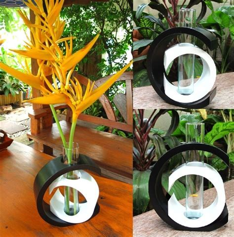 Handmade Whites Modern Art Mango Wood Vase Wedding Vase | handmade modern mango wood vase home garden decor gift ebay