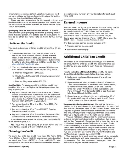 Child Credit Tax Forms Child Tax Credit Form Free