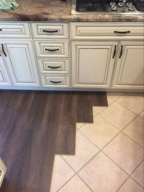 Margate Oak coretec floors installed over tile. Cork