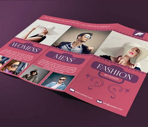 template brochure clothing fashion tri fold brochure template on behance