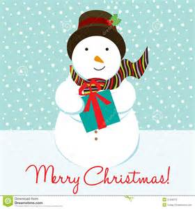 Snowman christmas card stock photo image 21430270
