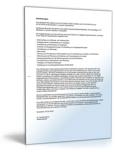 Vorlagen Zeugnis Muster Arbeitszeugnis B 252 Rokaufleute Note Eins Muster Zum