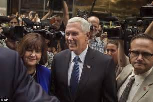 pence and wife to get tour of new digs donald trump mike pence show premieres in new york daily