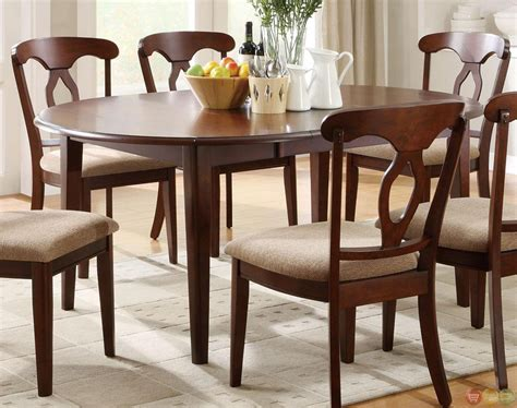 Space Saving Dining Room Furniture Liam Cherry Finish 7 Space Saver Dining Room Set