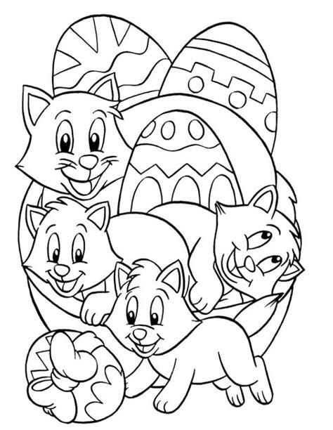 easter cats kittens coloring book books coloriage a imprimer oeufs de paques et chatons gratuit et