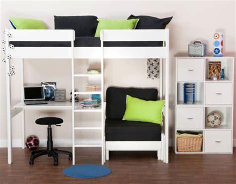 white high sleeper with futon white high sleeper with futon bm furnititure