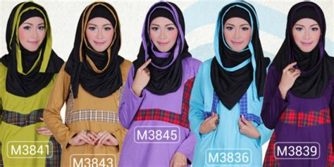 Indriani Tunic my baju muslim motif kotak bikin elegan co id