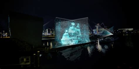 designboom ghost ship visualskin project ghost ship hologram along amsterdam canal