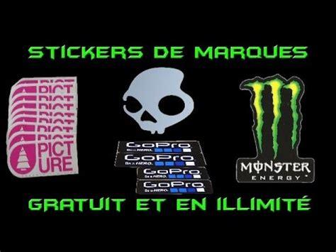 avoir des stickers de pleins de marques gratuitement en illimites youtube