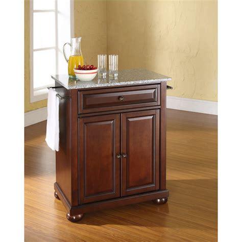 crosley alexandria solid granite top portable kitchen crosley furniture alexandria solid granite top portable