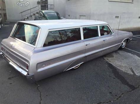 64 impala wagon lowrider 1964 chevrolet impala station wagon bagged lowrider