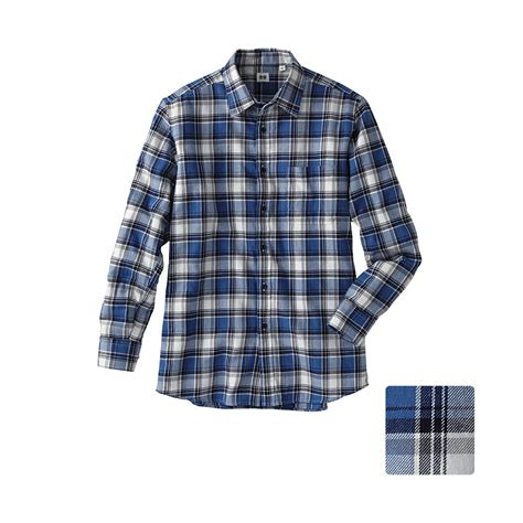 Uniqlo Flannel Shirt uniqlo flannel check sleeve shirt c31 in blue for lyst