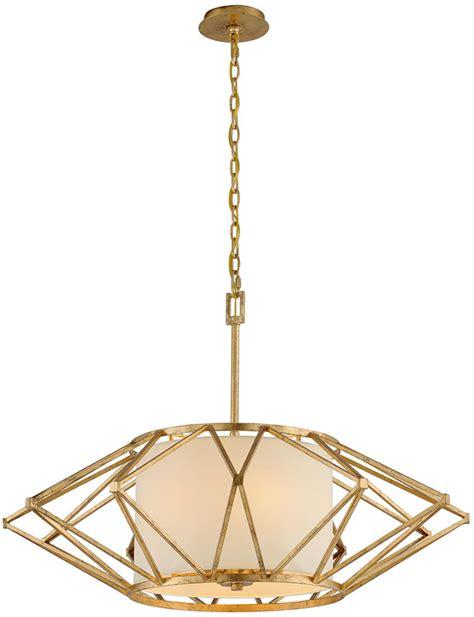 Modern Rustic Pendant Lighting Troy F4865 Calliope Modern Rustic Gold Leaf Large Hanging Light Fixture Tro F4865