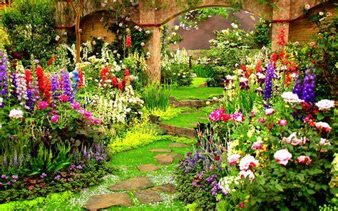spring flower gardens wallpaper wallpapersafari