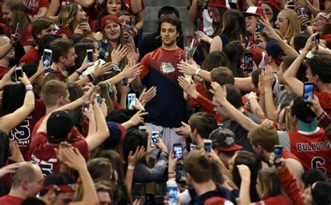 Gonzaga Student Section by Byu Defeats Gonzaga 73 70 The Spokesman Review