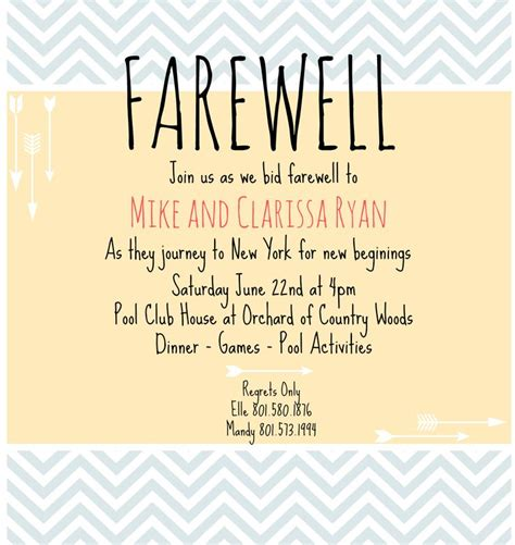 farewell invitation template 1000 images about farewell invitation on