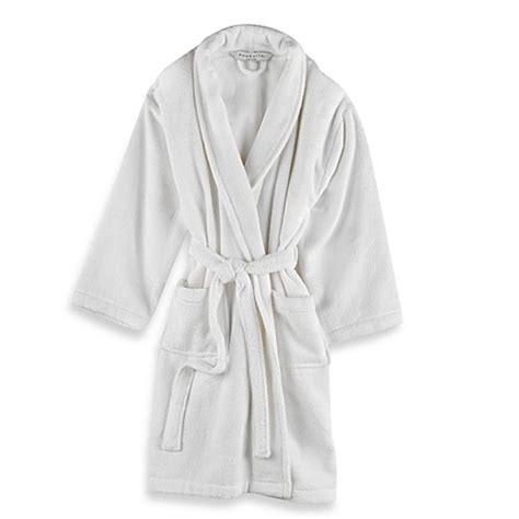 wamsutta unisex terry bathrobe  white bed bath