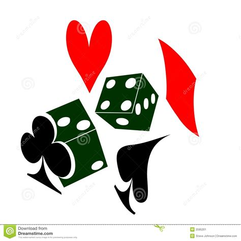 and cards with dice and cards stock illustration image