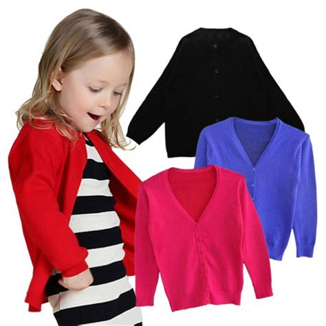 Atasan Anak Perempuan Pink Neck Dress Pink Neck baby basic cardigan v neck unisex newborn 4y