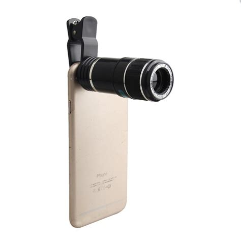universal 12x zoom mobile phone clip on telephoto lens for iphone 6 6s se ebay