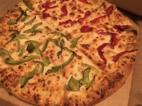 domino pizza telp medium pan pizza with garlic parmesan white sauce half