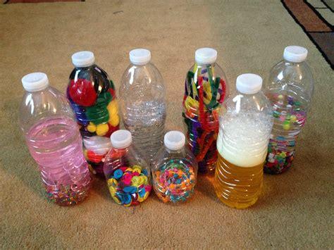Bathroom Treasure Basket Diy Baby Toddler Toys Sensory Bottles And Treasure