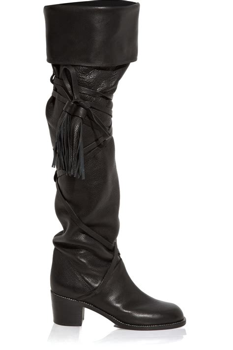 see by boots see by chlo 233 knee high boot in black lyst