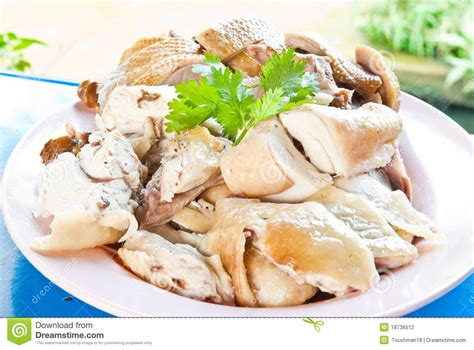 boil chicken and boiled duck stock photography image