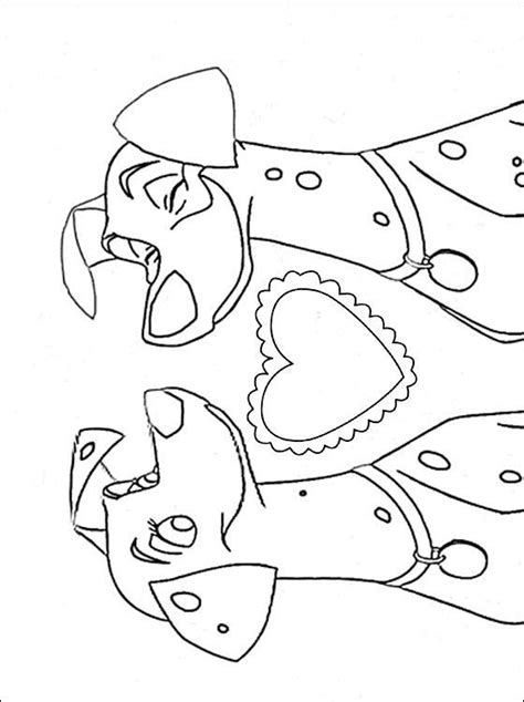 coloring pages of a dalmatian dog love coloring page with couple dalmatian dogs coloring