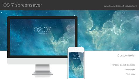 stylish screensaver recreates  ios  lock screen