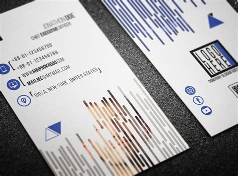 Business Card Print Template Psd by Free Modern Printable Vertical Business Card Template Psd