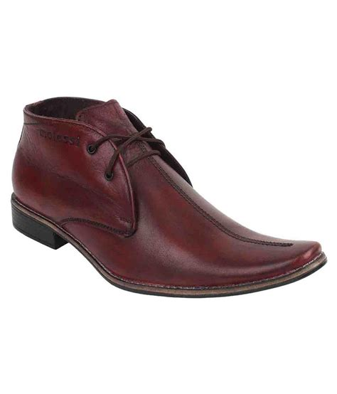 molessi maroon leather formal shoes buy molessi maroon leather formal shoes at best