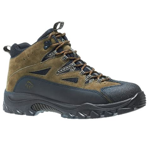 wide hiking boots wolverine s fulton mid hiking boots wide width