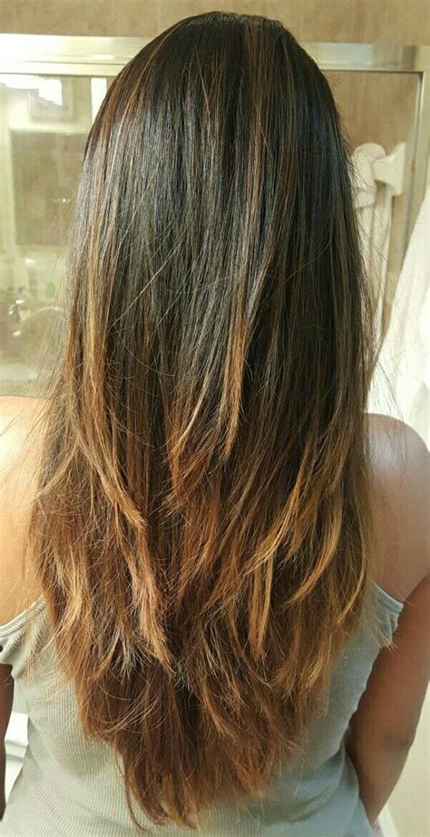 what is ombre cut long layers v cut bayalage ombre hairstyle hair beauty