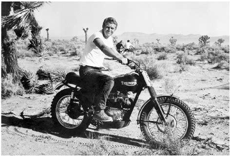 steve mcqueen doin it in the dirt triumph desert bike by bud ekins the selvedge yard