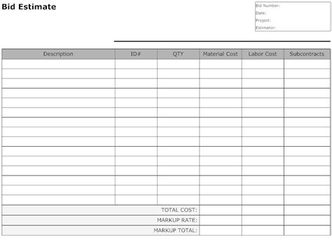 download printable auto body repair estimate forms