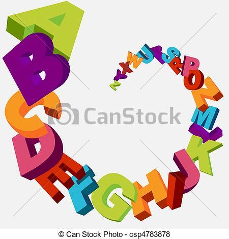 vector of alphabet background colorful 3d alphabet