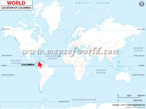 colombia on a world map where is colombia located location map of colombia