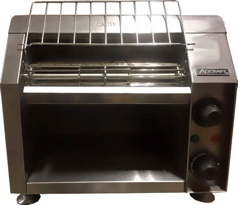 Toaster Conveyor conveyor toaster cvyt 120 adcraft 120v 1700w kitchen