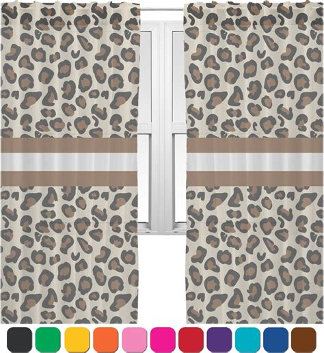 leopard print drapes sheer cheetah print curtains chf cheetah print sheer rod