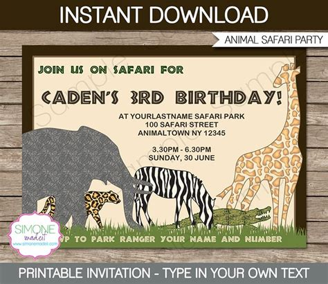 printable zoo birthday invitations 16 best images about adalynn s 1st birthday on pinterest