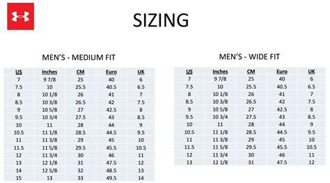 shoe size chart under armour under armour shoe size style guru fashion glitz