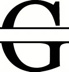 Monogram g vinyl decal custom creations vinyl decals