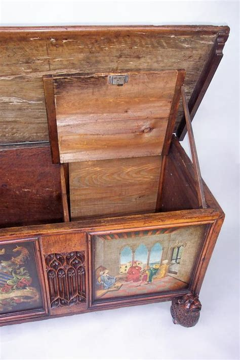 an italian l paint decorated walnut cassone for sale antiques classifieds