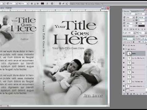 layout cover dvd photoshop pt 1 make your book dvd cover design using adobe