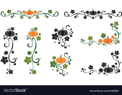 set of vector graphic elements royalty free stock photos set of pumpkin design elements royalty free vector image