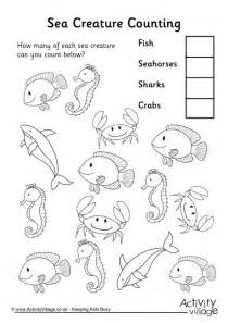 sea creature counting 3