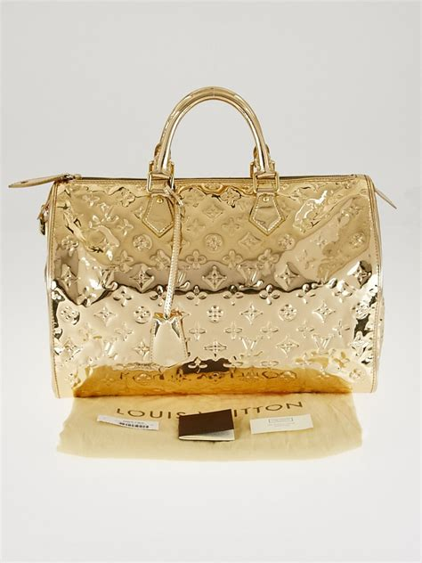 Louis Vuitton And Bff With Louis Vuitton Miroir Voyager Almas by Louis Vuitton Limited Edition Gold Monogram Miroir Speedy