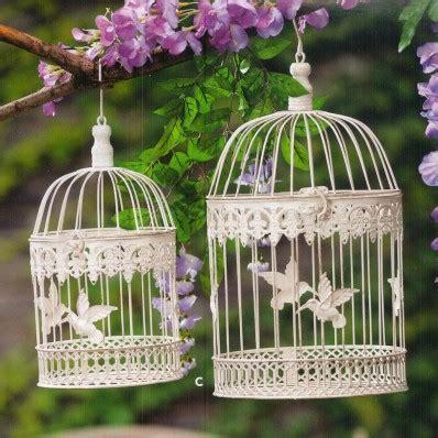 gabbie ornamentali gabbie per uccelli bianche rettangolari 2 dimensioni
